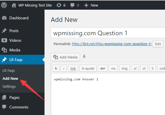 how to add faq to a page in wp