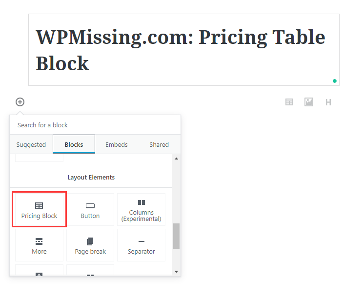 Easy Pricing Table Generator For Gutenberg - Nusratech