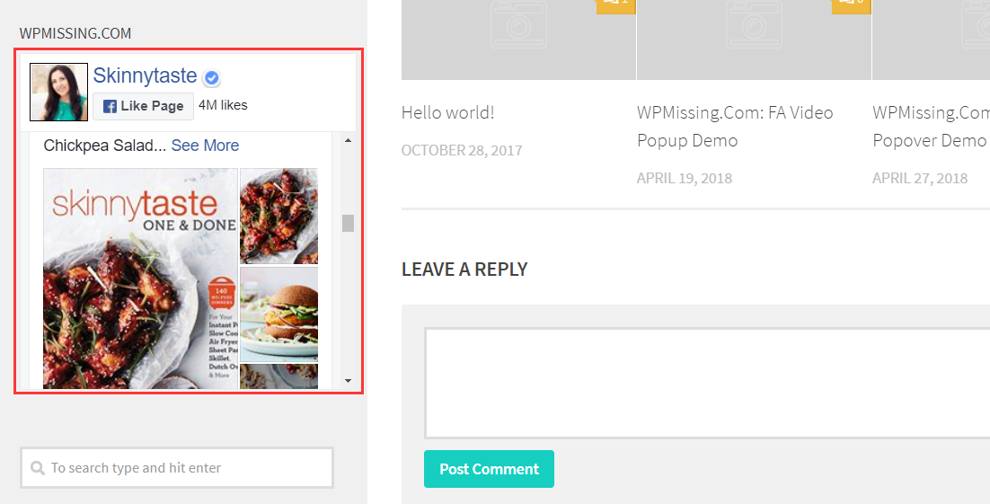 how to call widget in wordpress page