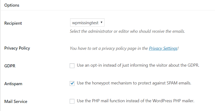 simple secure gdpr compliant contact form plugin for wordpress wp
