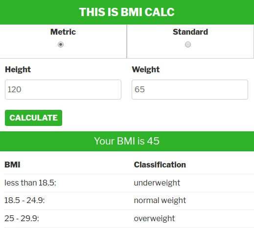 BMI And Water/Protein Intake Calculator Plugin - Fitness