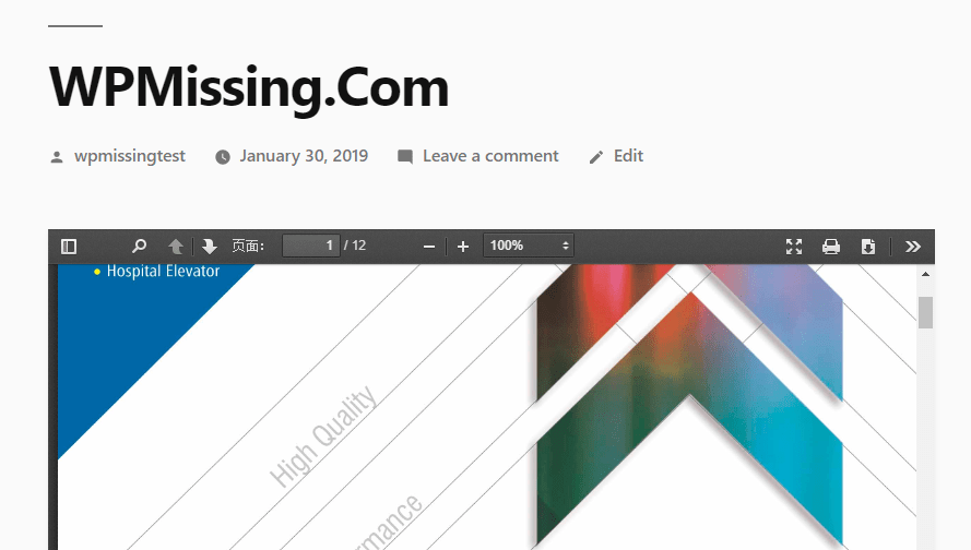 Easy Responsive PDF Viewer For Gutenberg Editor | WP Missing