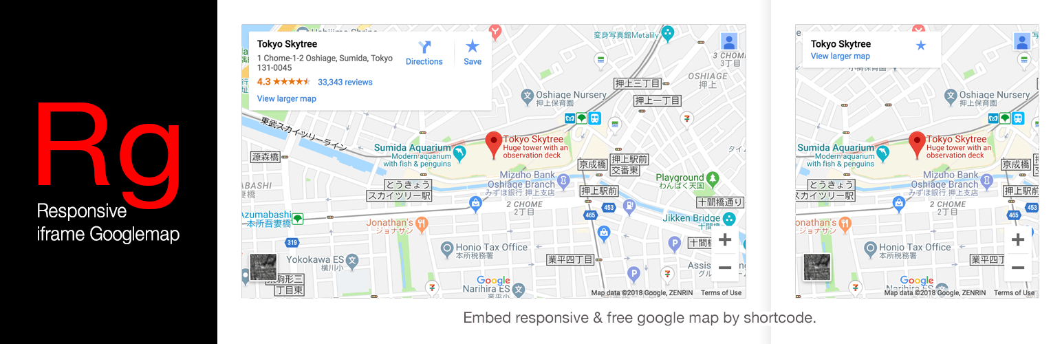 Google Maps Embed Using Shortcodes Responsive Iframe Googlemap