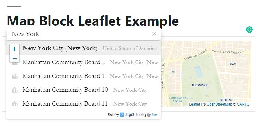 Interactive Leaflet Map Plugin For Wordpress - Map Block