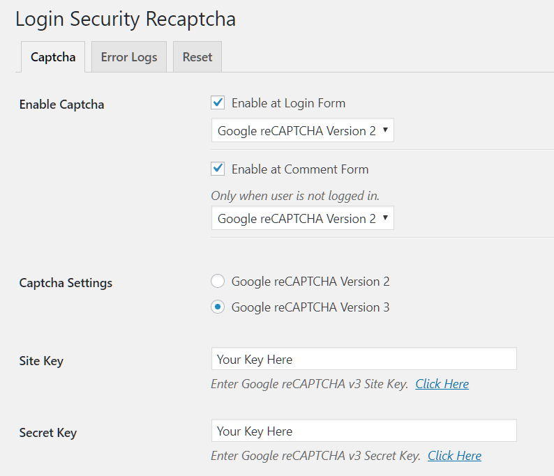 Prevent Brute-force Attack Using Google reCaptcha - Login
