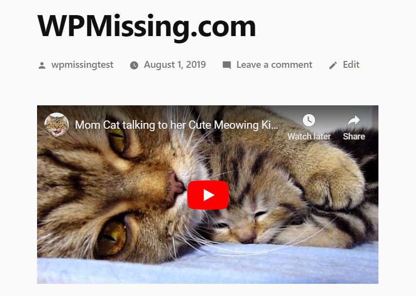 Embed Youtube And Vimeo Video In Responsive Way - REV   WP